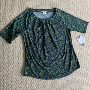 Knit Top with Polyester and Spandex